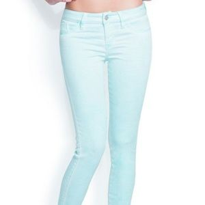 Guess brittney skinny ankle in pale turqouise 27